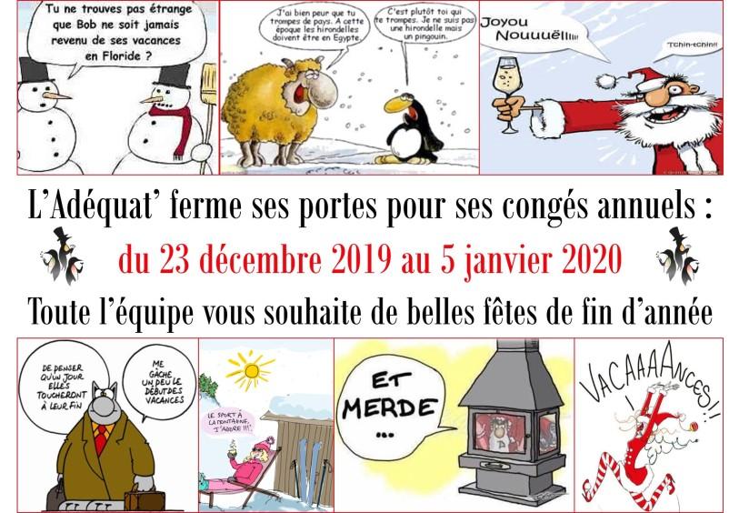 Congés de Noël 2019